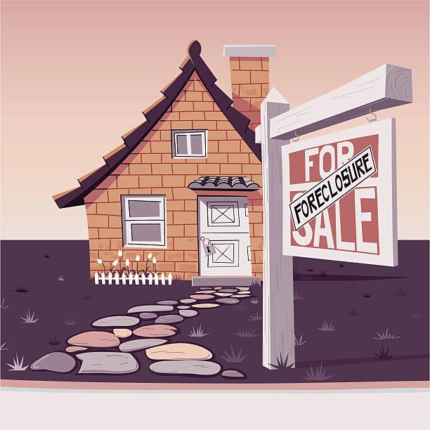 Casa de ladrillo para venta - ilustración de arte vectorial