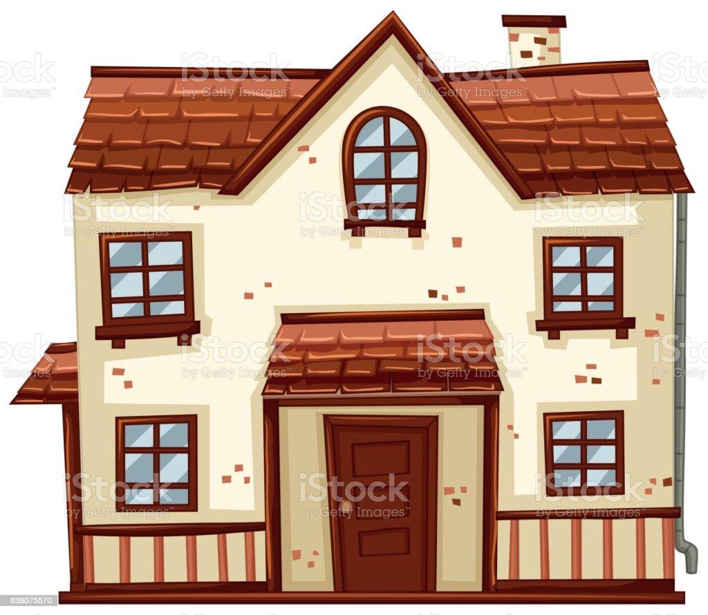 Backstein Haus Mit Rotem Dach Lizenzfreies Backsteinhaus Mit Rotem Dach  Stock Vektor Art Und Mehr