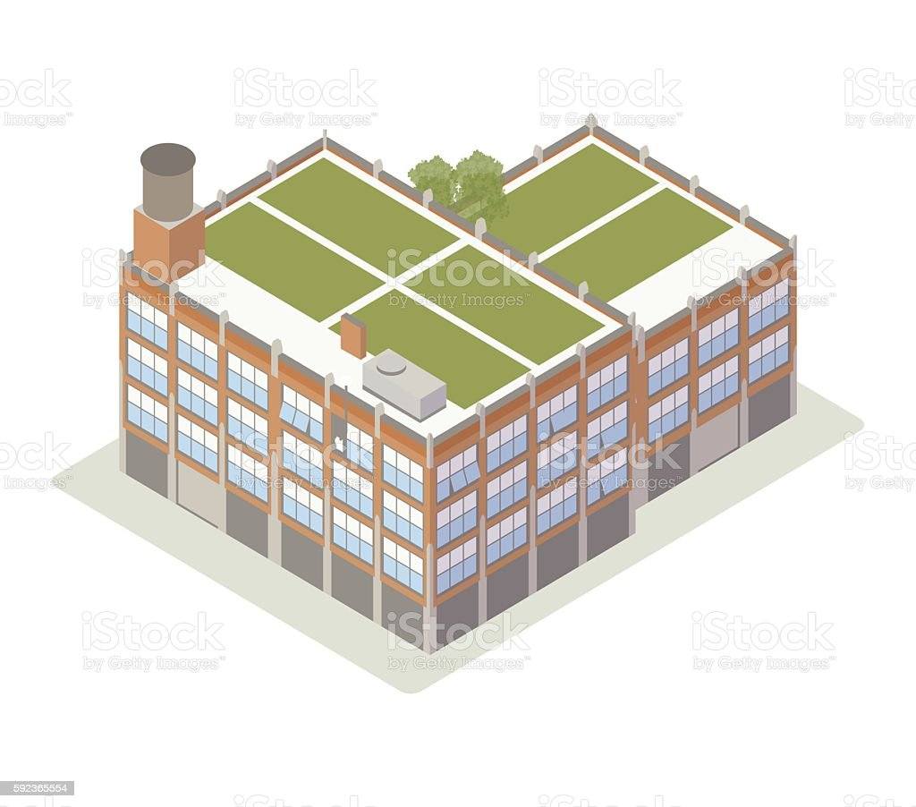 Brick loft illustration vector art illustration