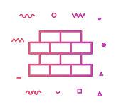 istock Brick & Mortar Line Style Icon Design 1155294213