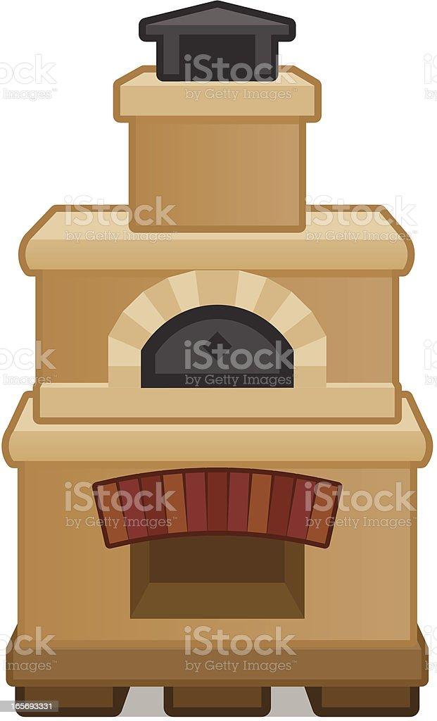 Brick Oven vector art illustration