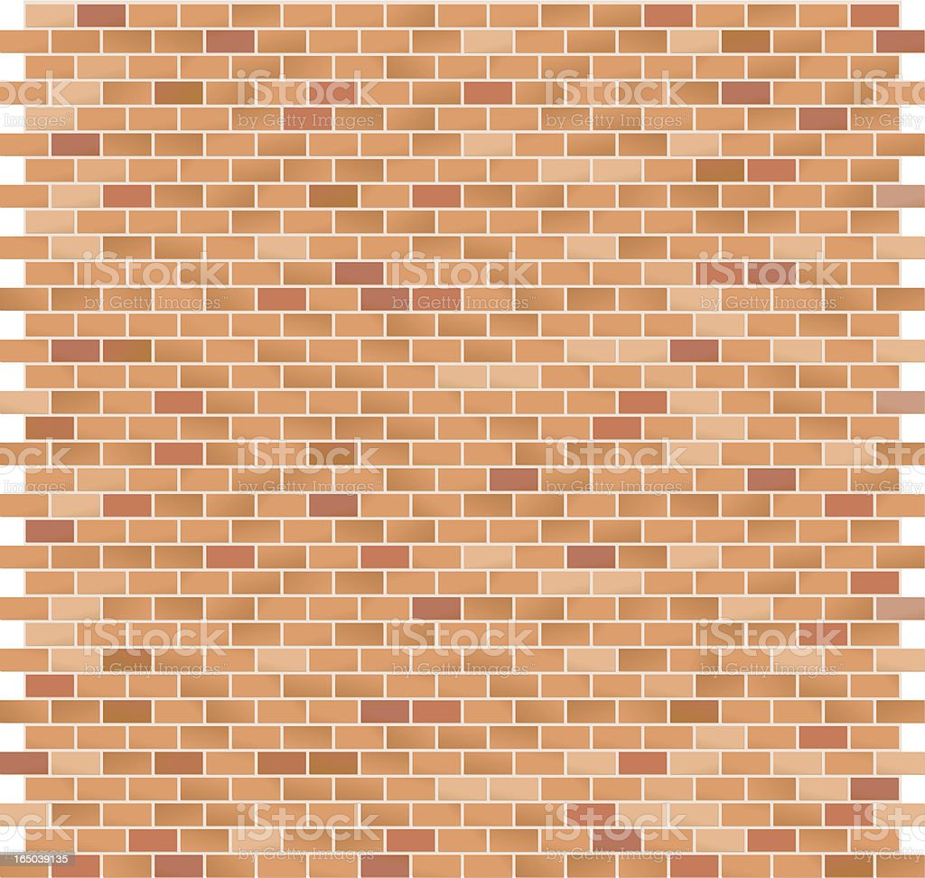 Brick Pattern large Red royalty-free stock vector art