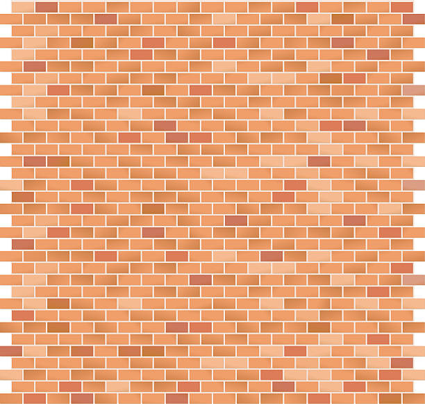 Brick Pattern large Red vector art illustration
