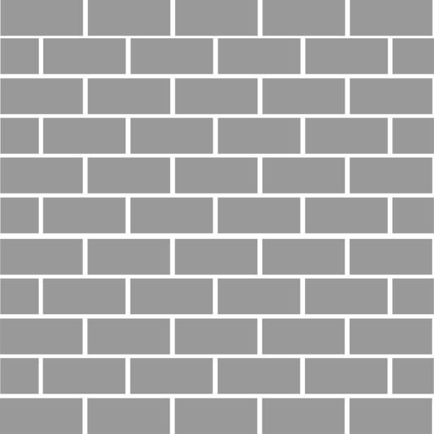Fond de brique de mur en pierre. Texture de couleur grise. Forme de rectangle. Design plat. - Illustration vectorielle