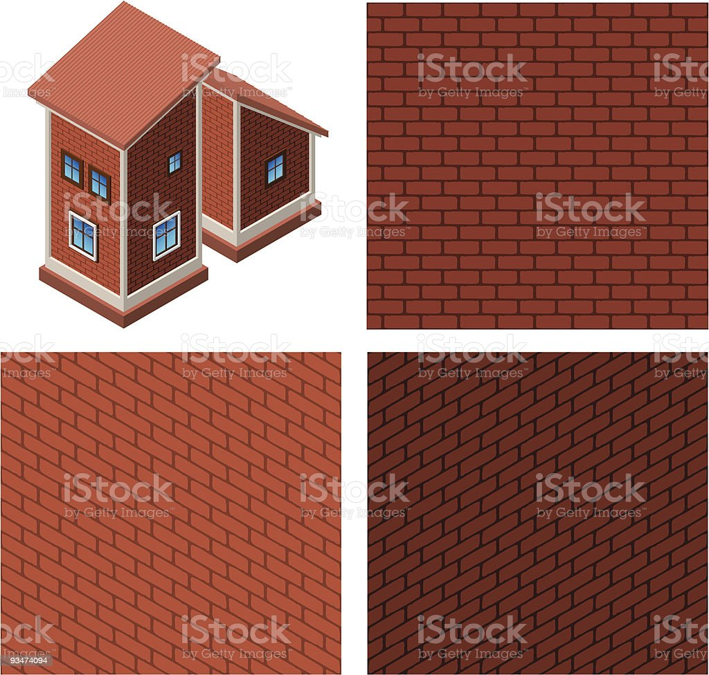 Brick royalty-free stock vector art
