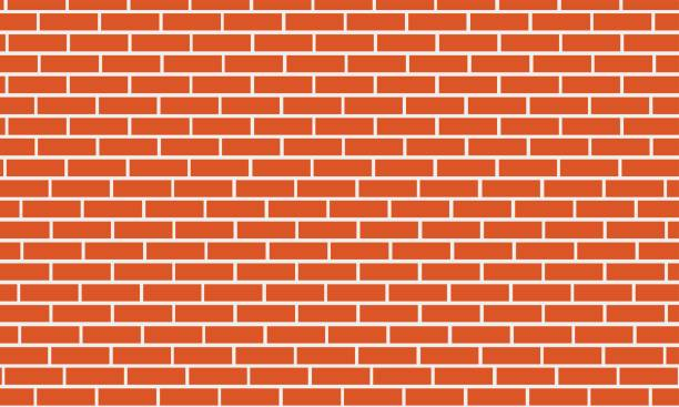Brick wall background vector art illustration