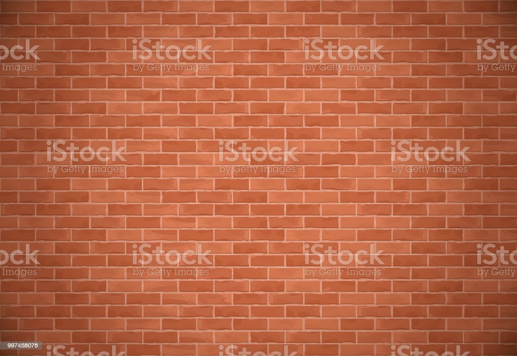 Brick Wall Background vector art illustration