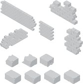 istock Brick Wall Construction 455527987