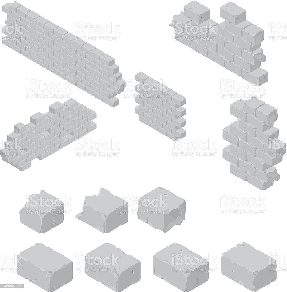 Brick Wall Construction vector art illustration