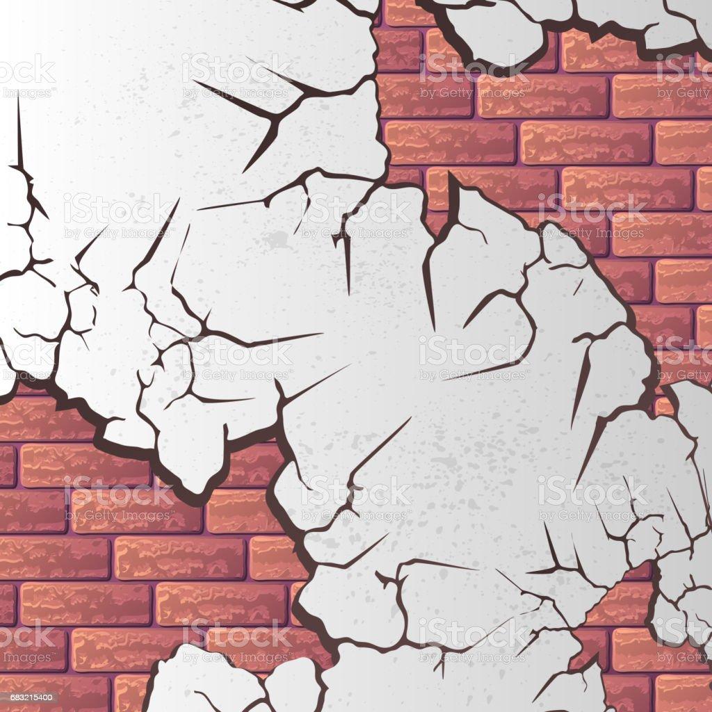 Mauer Risse Lizenzfreies mauer risse stock vektor art und mehr bilder von abstrakt