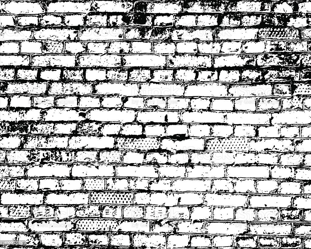 Brick Wall Detail Texture Royalty Free Stock Vector Art Amp