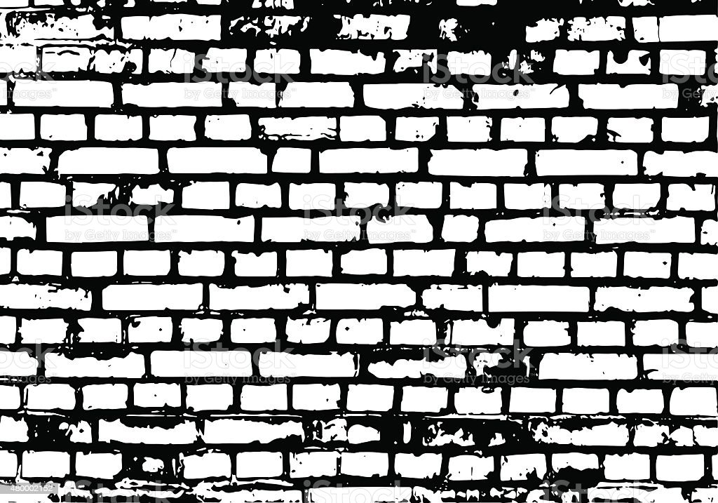 Brick wall detail texture vector art illustration