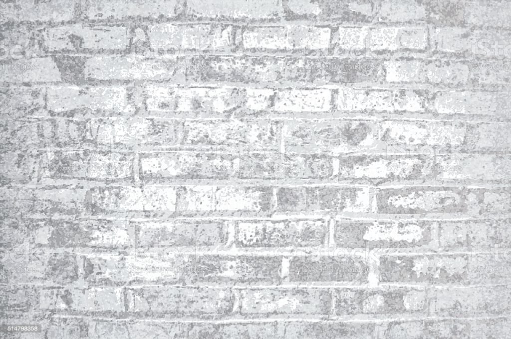 Brick Wall grunge rustic rough textured vector art illustration