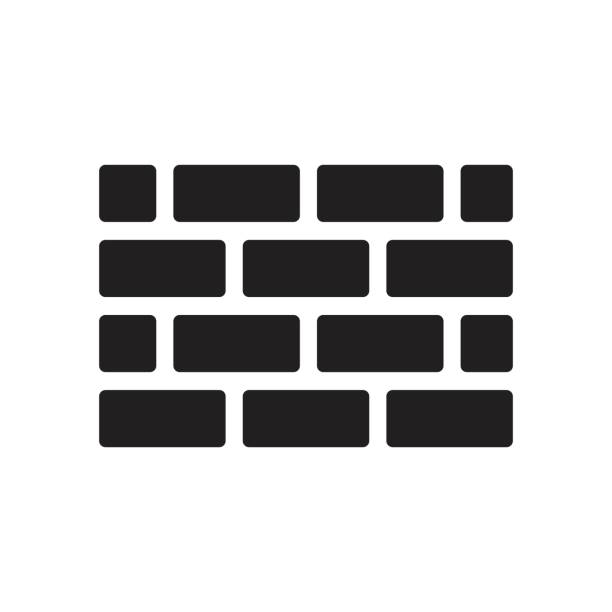 brick wall icon  for website design, logo vector art illustration