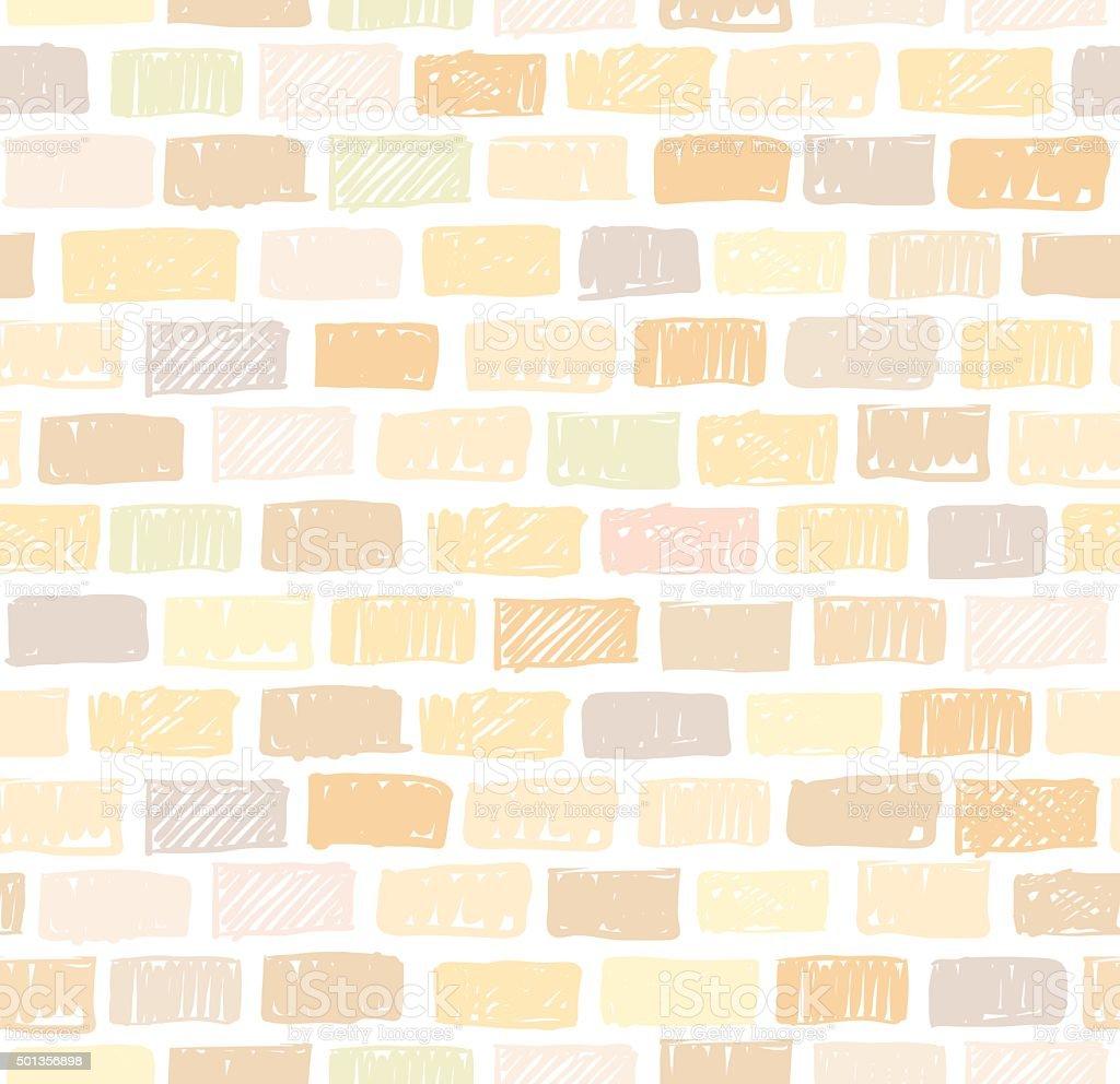 Mur de briques léger motif sans couture dessin - Illustration vectorielle