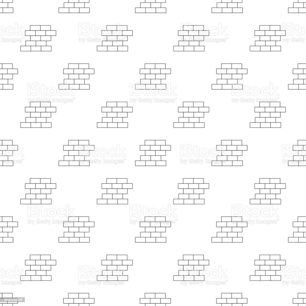 Brick wall pattern seamless vector art illustration