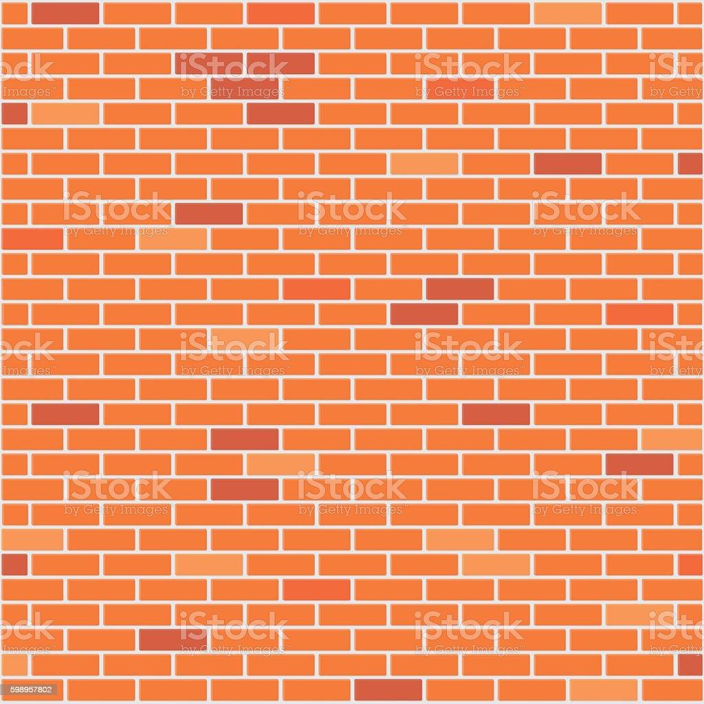 Brick wall realistic background vector art illustration