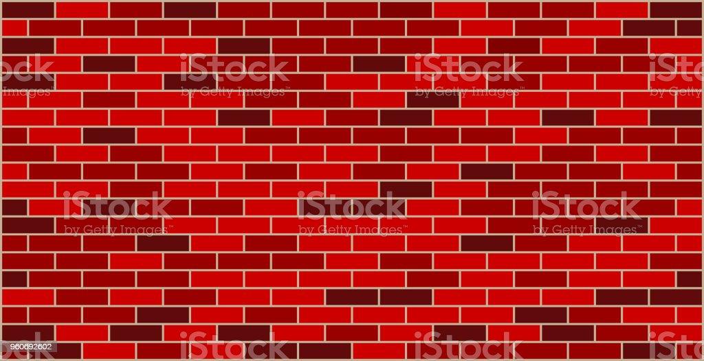 Brick wall red black texture graphic design - ilustração de arte vetorial