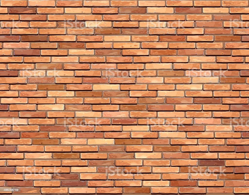 Brick wall seamless background. vector art illustration