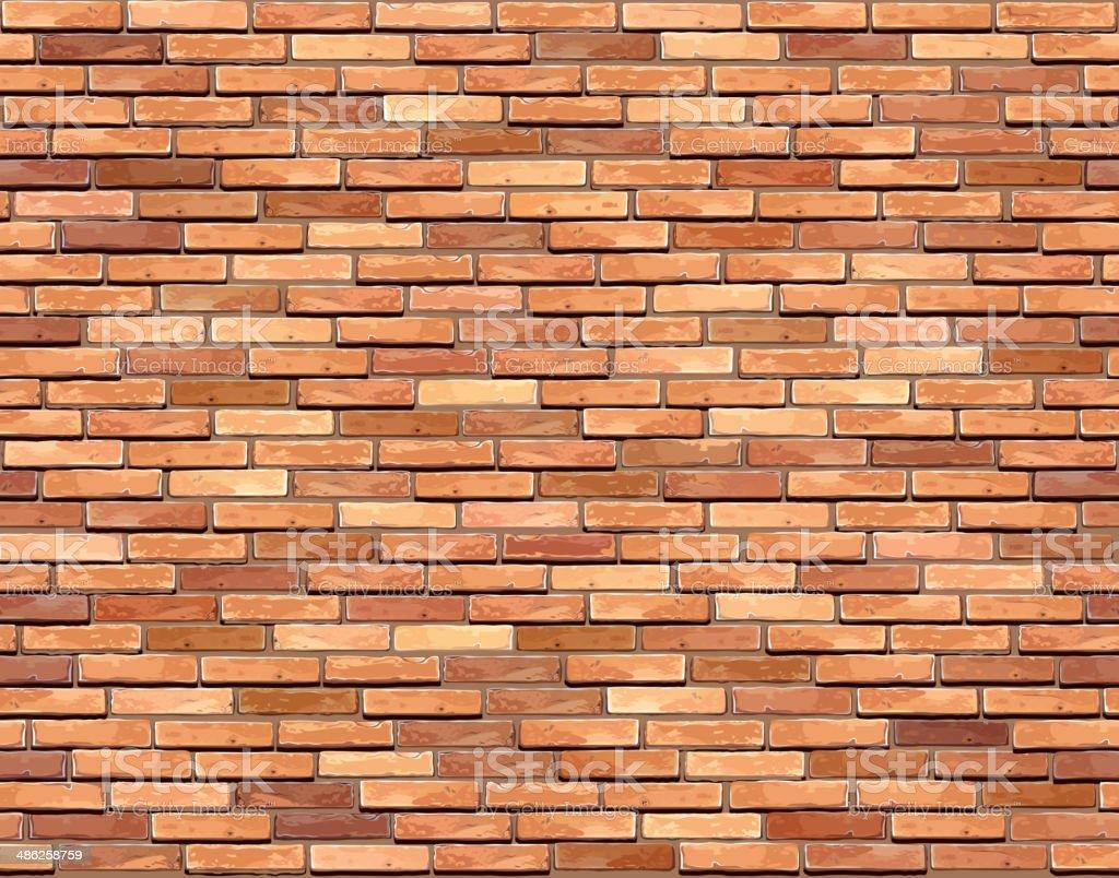 Mur de briques sans couture arrière-plan. - Illustration vectorielle
