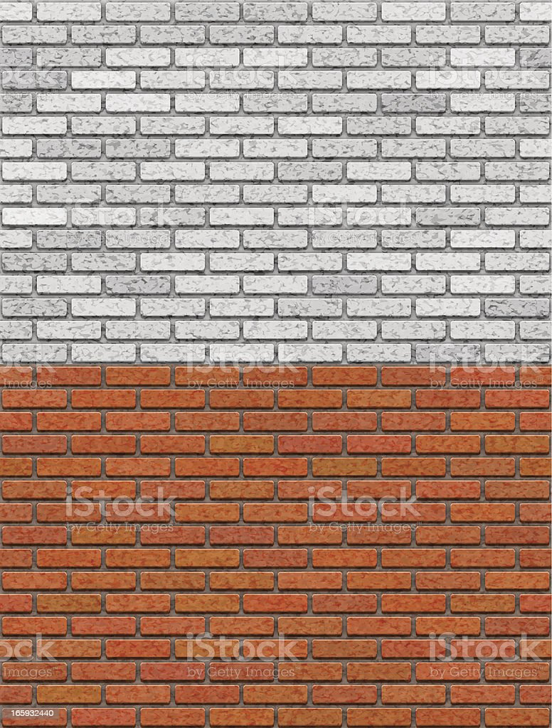 Brick Wall Seamless Pattern vector art illustration