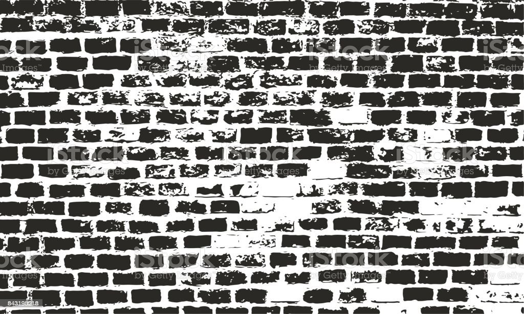 Brick wall texture. Grunge vector urban background. Distressed surface for retro design. vector art illustration