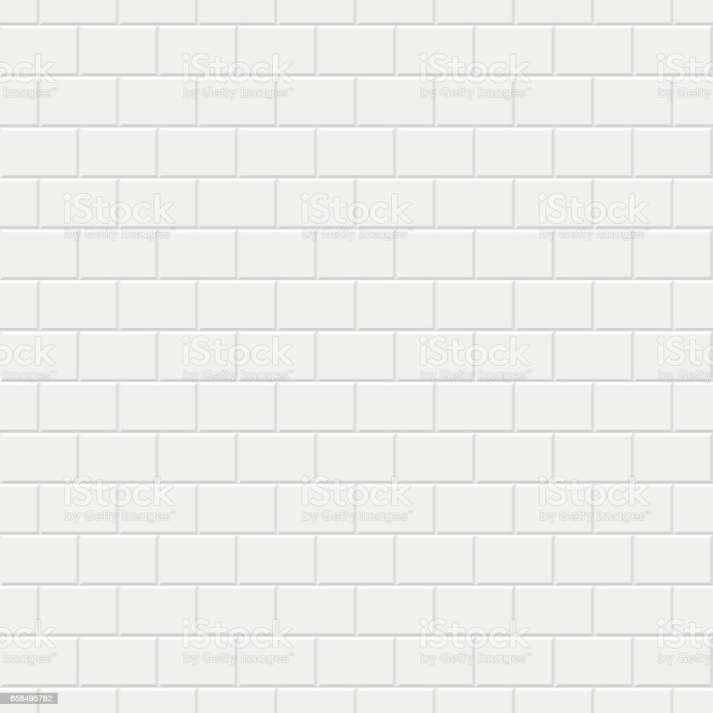 Brick wall texture - seamless background. vector art illustration
