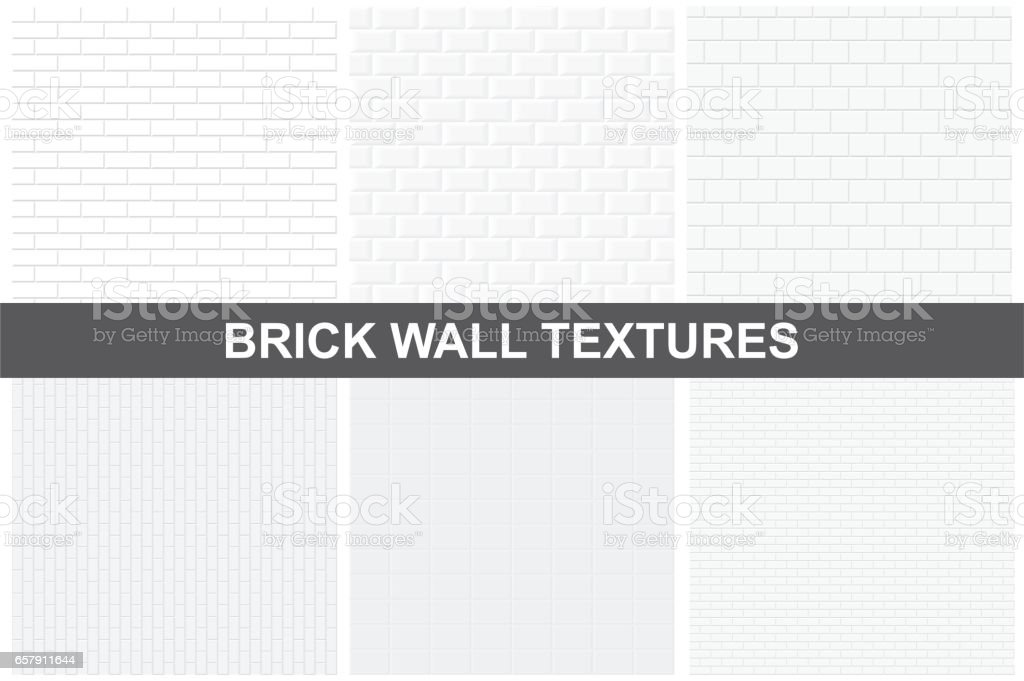 Textures de mur brique - sans soudure. - Illustration vectorielle