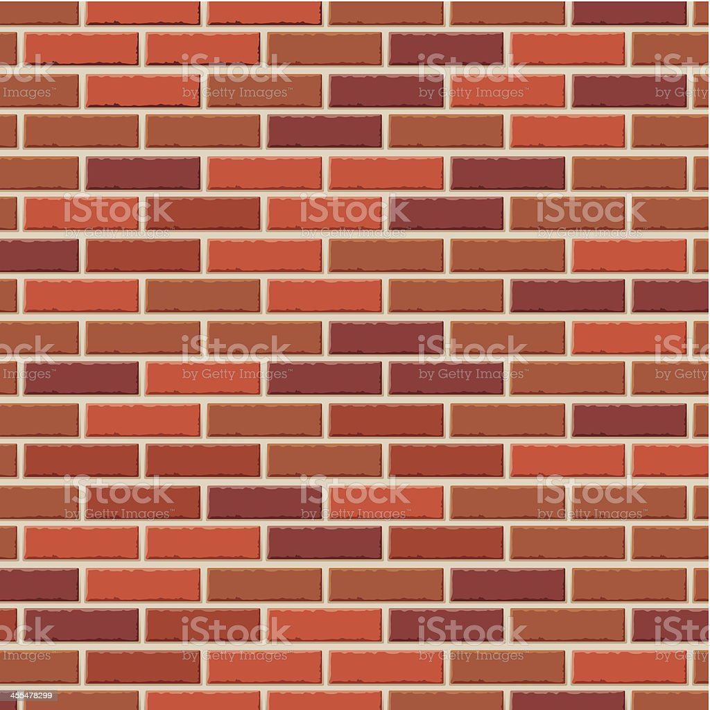 Brick wall vector art illustration