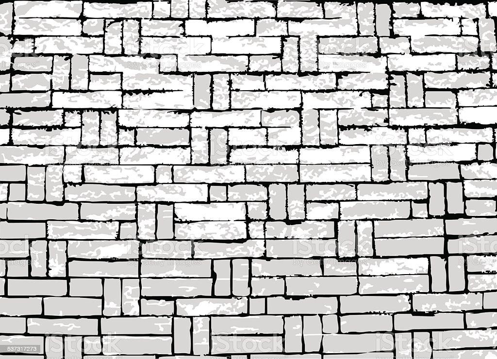 brick wall vector art illustration