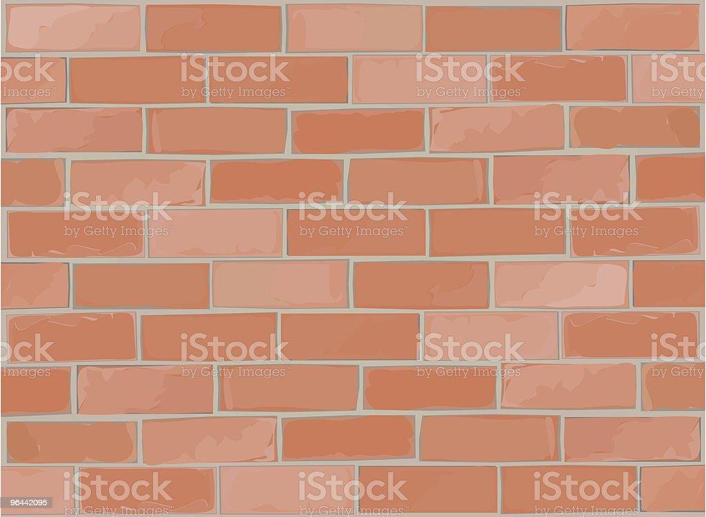 Brick Wall Vector Stretcher/Running bond pattern royalty-free stock vector art