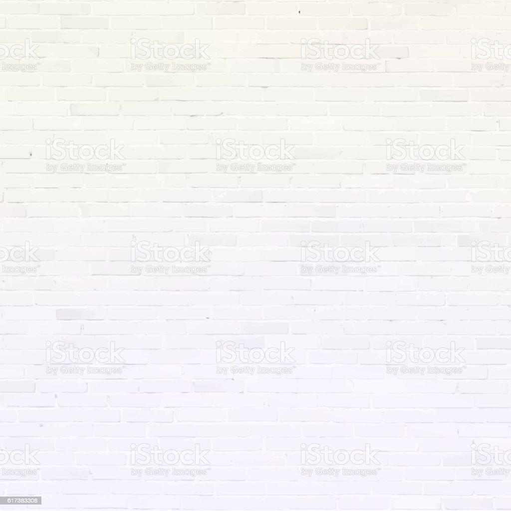 Mur de briques et blanc avec ombre texture de secours - Illustration vectorielle