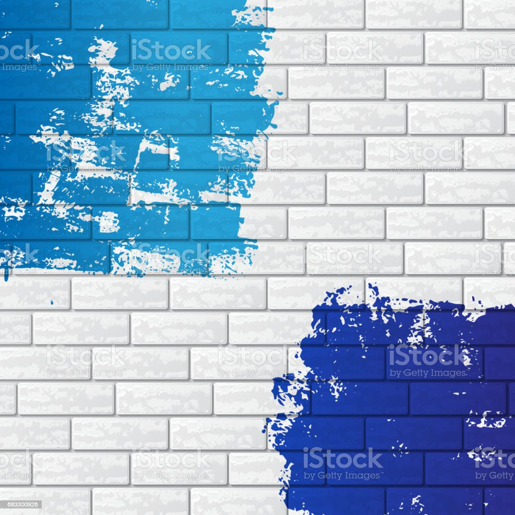 Brick wall with color brick wall with color - immagini vettoriali stock e altre immagini di a forma di blocco royalty-free
