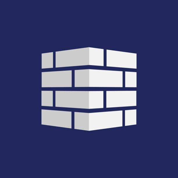 Bricks icon. Bricks logo. isolated on background. Vector illustration. vector art illustration