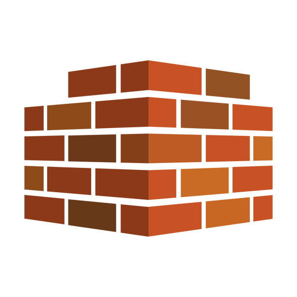 Bricks icon. Bricks logo. isolated on white background. Vector illustration. vector art illustration