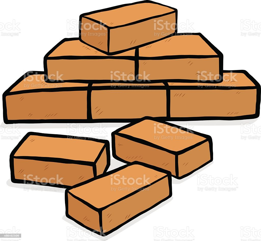 royalty free stack of bricks clip art vector images illustrations rh istockphoto com brick clip art pattern brick images clipart