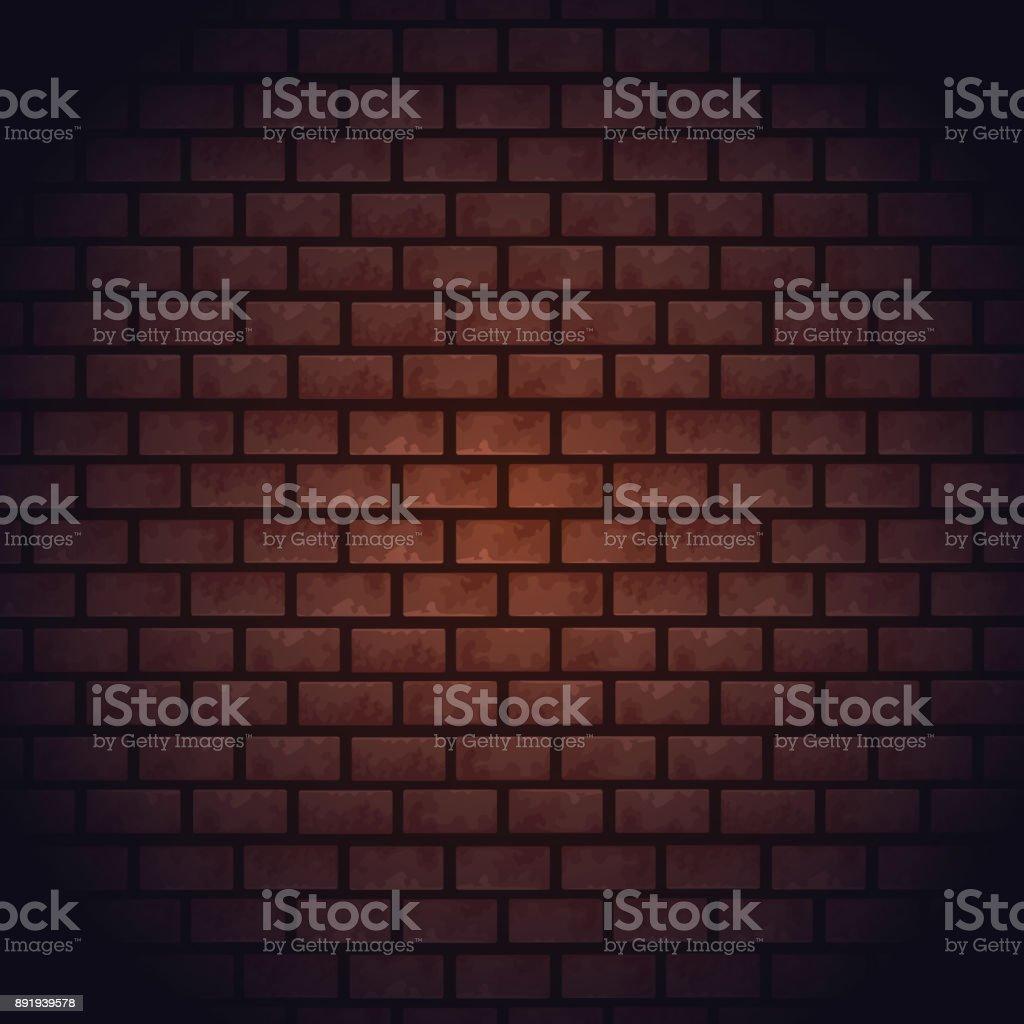 Bricks wall background vector art illustration