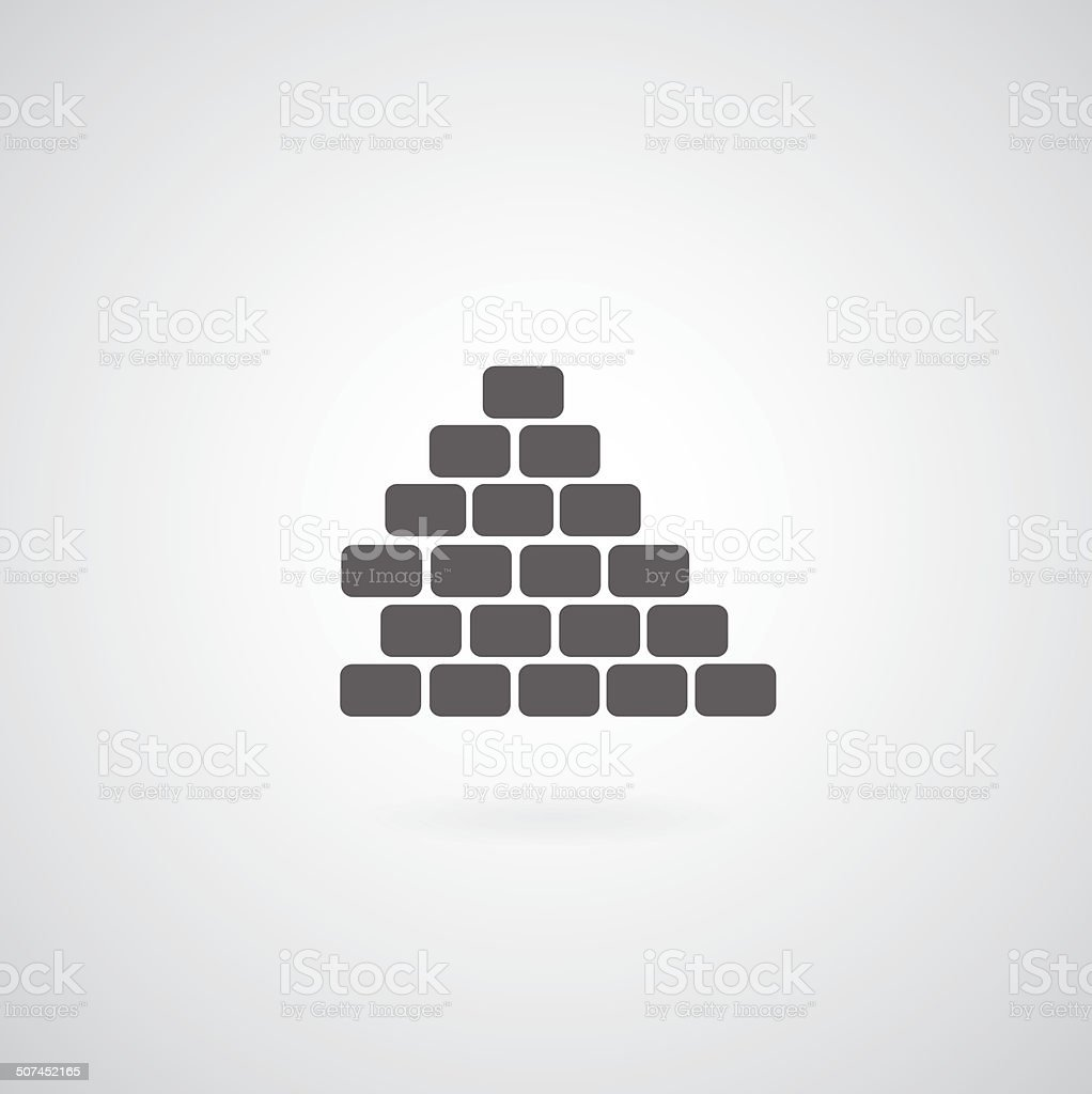 Brickwork icon vector art illustration