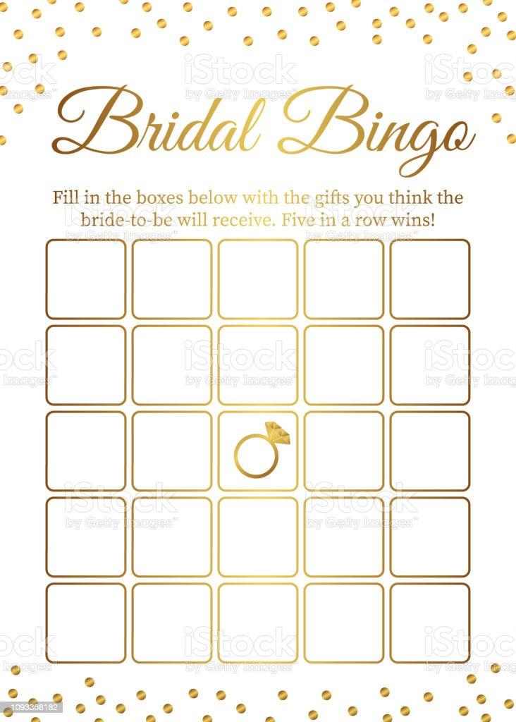 Bridal Bingo Kartenvorlage Bridal Dusche Bingospiele Lustige