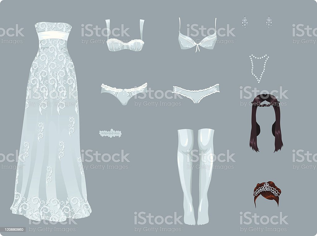 Bridal clothes royalty-free bridal clothes stock vector art & more images of adult