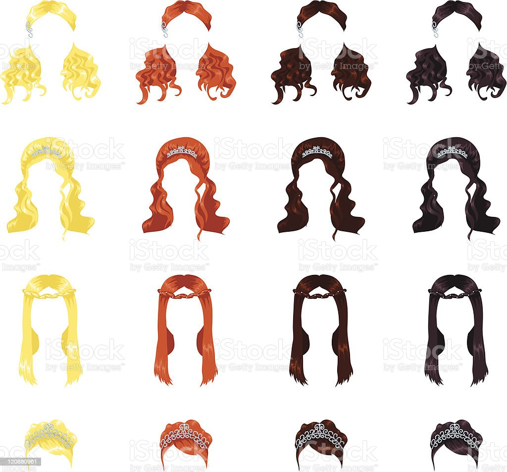 Royalty Free Bridal Hair Clip Art Vector Images U0026 Illustrations - IStock