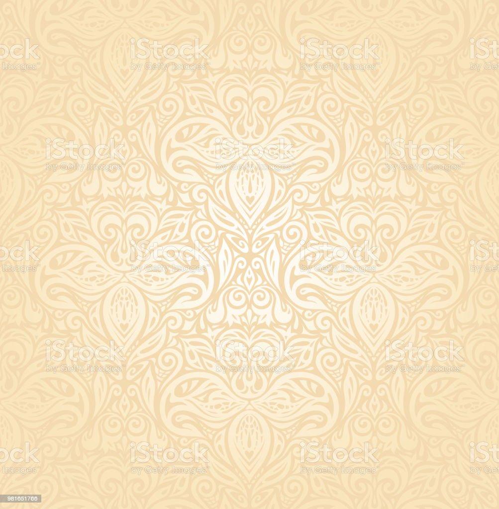 bridal retro wedding peach invitation background design stock vector