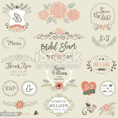 istock Bridal Shower Design Elements 625704060