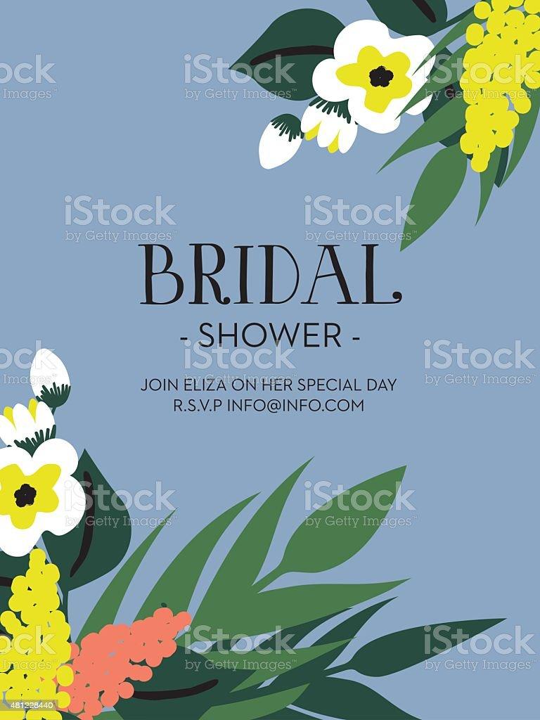 Fête de mariage invitation carte. - Illustration vectorielle