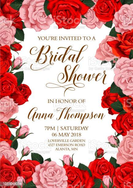 Bridal shower invitation card with flower frame vector id1033048024?b=1&k=6&m=1033048024&s=612x612&h=1y39uqhrqj0qarnvxhlwbewj9pwy8qf6vpffzn6rj6a=