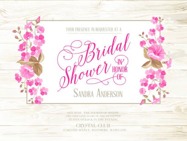 bridal shower invitation vector art illustration
