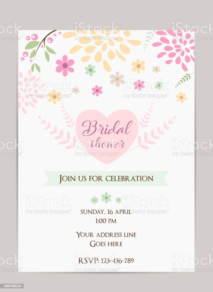 Bridal shower invitation vector art illustration