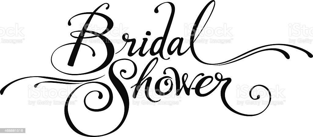 Bridal Shower Royalty Free Stock Vector Art