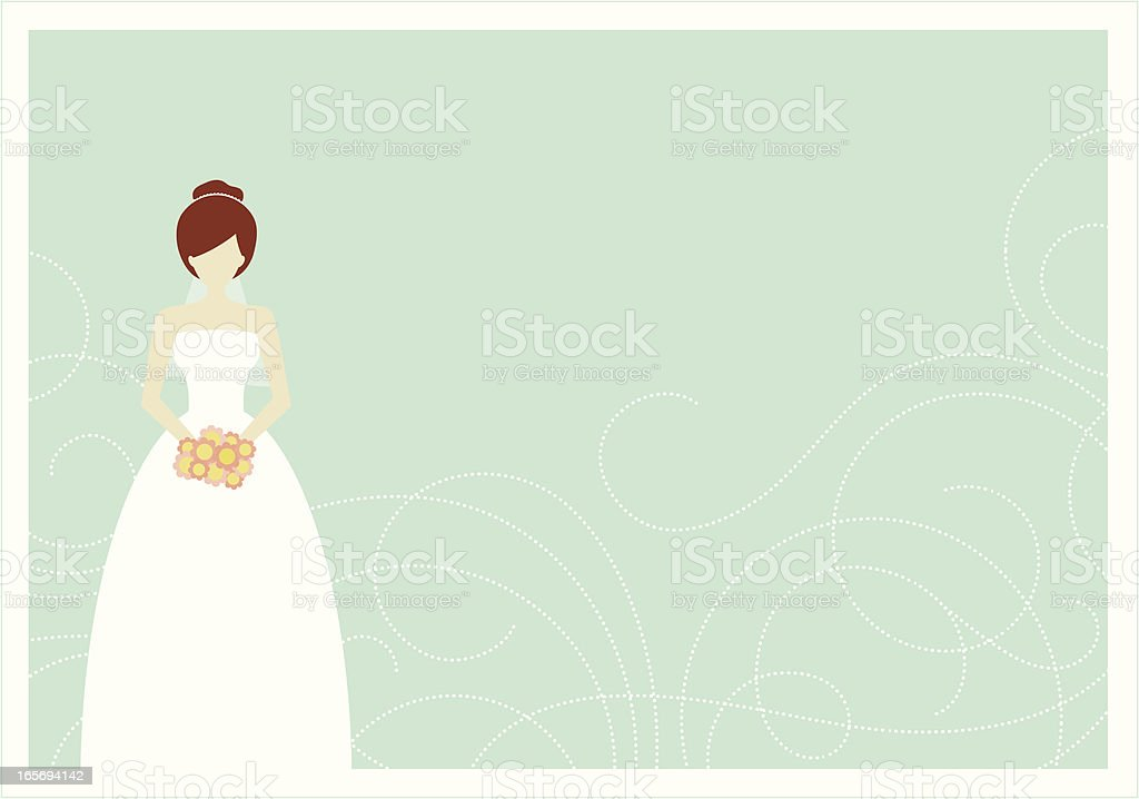 Bridal Swirl royalty-free stock vector art