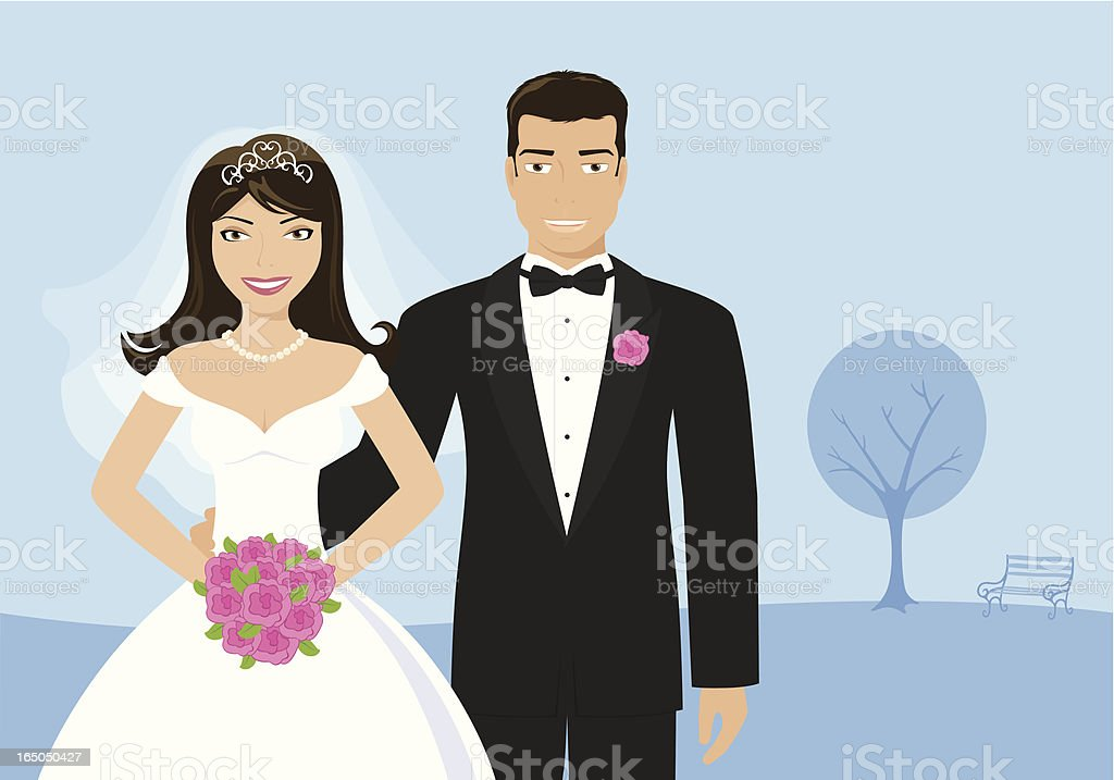 Bride and Groom - incl. jpeg royalty-free stock vector art
